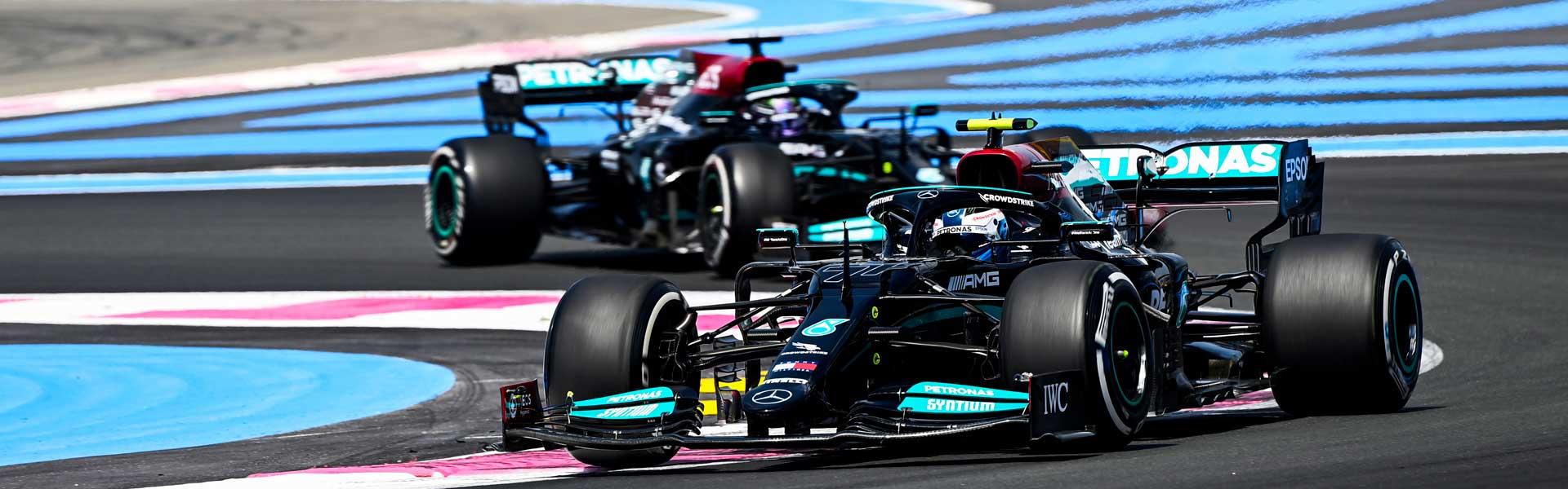 Hamilton in P2, Bottas in P4 at the French Grand Prix